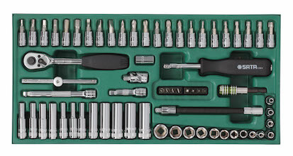工具托组套-66件6.3MM系列套筒