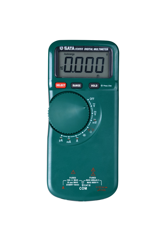 薄型带温度测量数字万用表